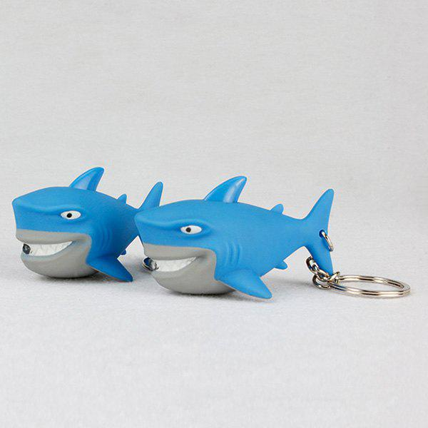 Unique Shark Style Key Chain with LED Light / Sound Gift 1pc