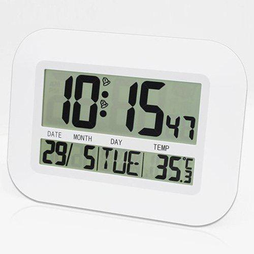 Fancy LCD Dispaly Digital Temperature Humidity Weather Station Clock