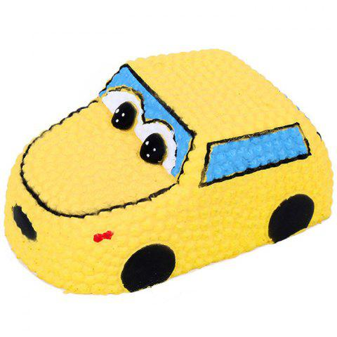 Squishy PU Slow Rising Stretchy Squeeze Yellow Car Toy - YELLOW