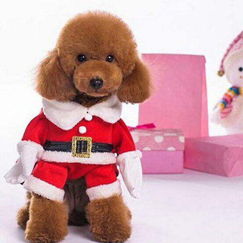 Fashionable Pet Clothes for Christmas Decoration - RED - M