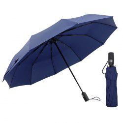 Automatic Tri-folded Windproof with 10 Branches Sunny / Rainy Commercial Umbrella -