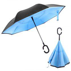 Plain Color Long Handle Umbrella for Rainy Day -