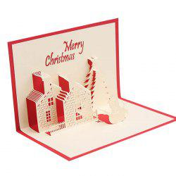 Creative 3D Little House Design Greeting Card -