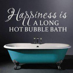 New Happiness English Letter Bathroom Wall Sticker -
