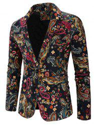 Men Blazer Leisure Printed Cotton -