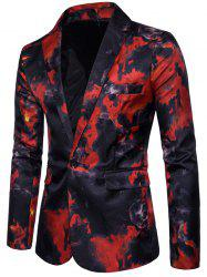 Men Blazer Suit Costume Printed -