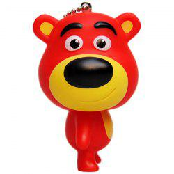 Big-head Bear Rubber Key Chain -