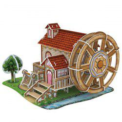 DIY 3D Puzzle Windmill Music Box Cottage Соберите игрушку 46шт. -