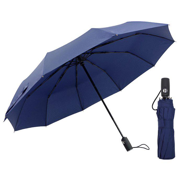 Outfits Automatic Tri-folded Windproof with 10 Branches Sunny / Rainy Commercial Umbrella