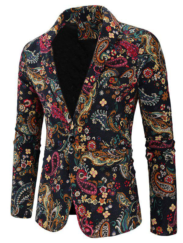 Trendy Men Blazer Leisure Printed Cotton
