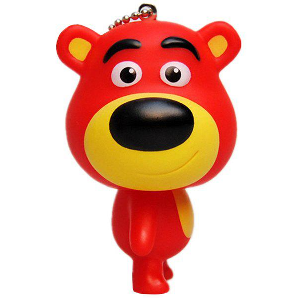 Fashion Big-head Bear Rubber Key Chain