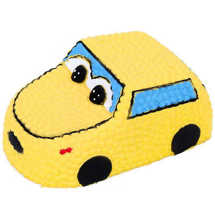 Squishy PU Медленный Rising Stretchy Squeeze Yellow Car Toy Жёлтый