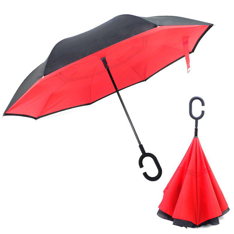 Outfits Plain Color Long Handle Umbrella for Rainy Day