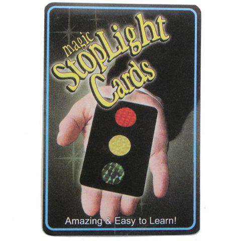 Magic Stop Light Cards Trick Toy Prop Set BLACK