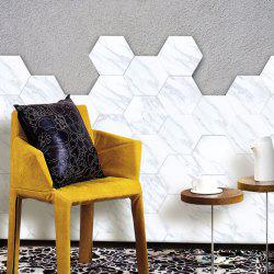 Creative Home Decoration Tile Marble Style Floor Wall Stickers 10pcs -