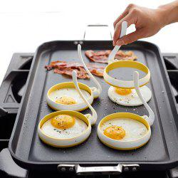 Omelette Maker Molds Round Shape Silicone Nonstick Frying Egg Moulds 2pcs -