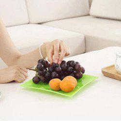 Multifunctional Square Snack Fruit Candy Plastic Dish Plate -