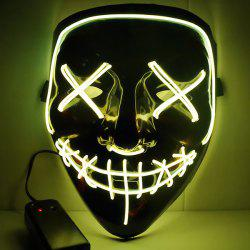 Halloween Party LED Light up Masks Cosplay Costume Supplies -