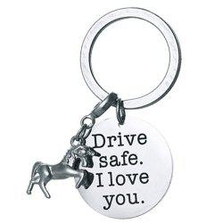 DIY Unicorn Stainless Steel Key Ring for Friends -