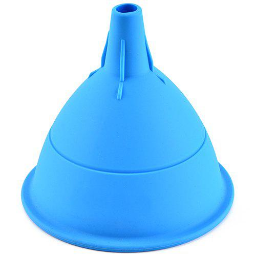 Fashion Thickening Silicone Portable Funnel for Kitchen