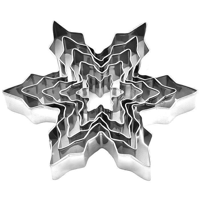 Unique Stainless Steel Snowflake Biscuit Cookie Cutters Fondant Cake Decorating Mold