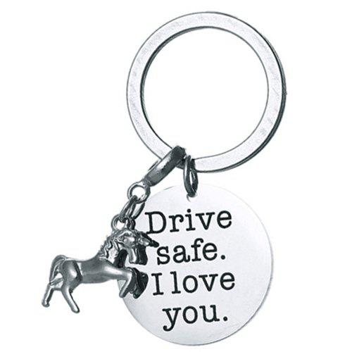 Outfit DIY Unicorn Stainless Steel Key Ring for Friends