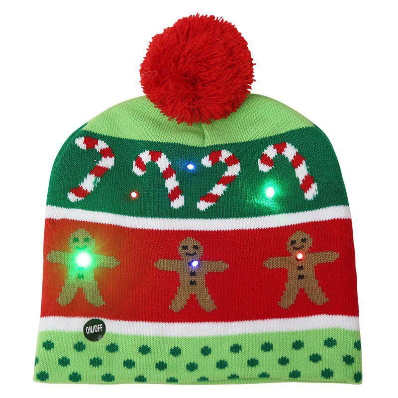 Trendy Ball Christmas LED Light Knit Hat 982840f850a7