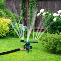 Plug Type 3-head Large Nozzle 360-​​degree Automatic Rotating Lawn Watering Sprinkler -