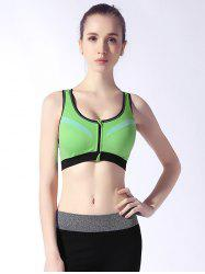 Women Breathable Shockproof Zipper Sports Bra -