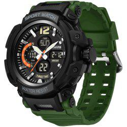 PANARS 8205 Digital + Quartz Waterproof Male Watch -