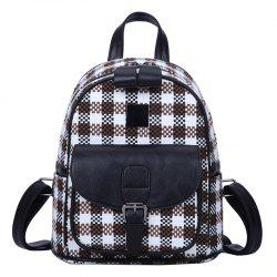 Printing Girls Backpack Plaid Travel Bag -