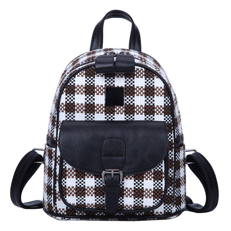 Latest Printing Girls Backpack Plaid Travel Bag