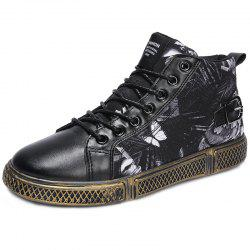 High-top Casual Men Flat Shoes -
