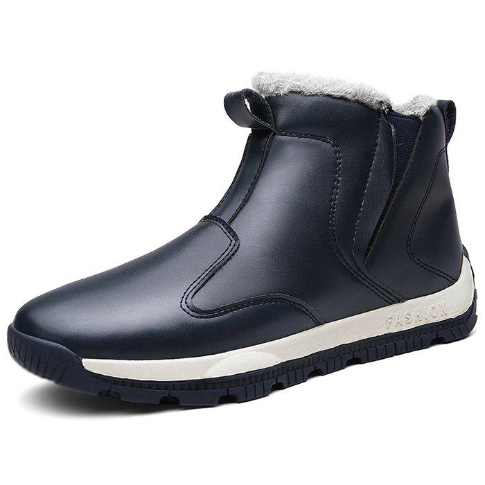 Shop Winter Men Plus Velvet Warm High Cotton Shoes Cotton Boots Snow Boots