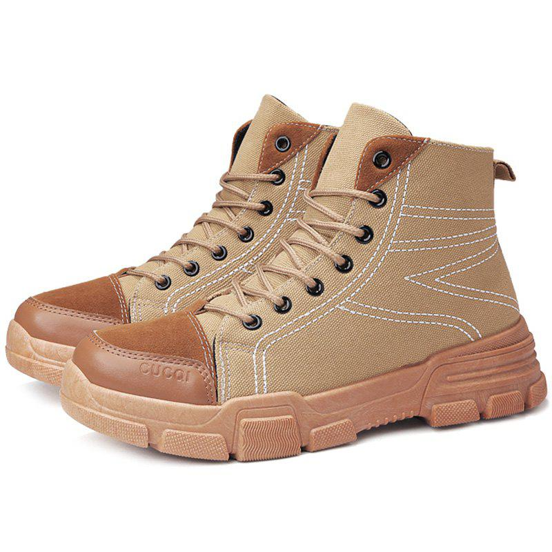 Discount Men High-top Boots Classic Comfortable Durable Lace-up
