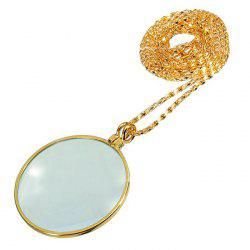 Magnifying Glass Necklace for Old Men -