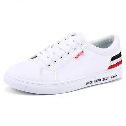 Men Shoes Flat Sneakers Lace-up -