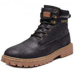 Men Fashion Boots High-top Durable Lace-up -