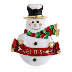 89814D Colorful Christmas Snowman Brooch for Christmas -