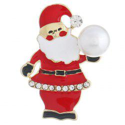Santa Claus Alloy Brooch for Christmas -