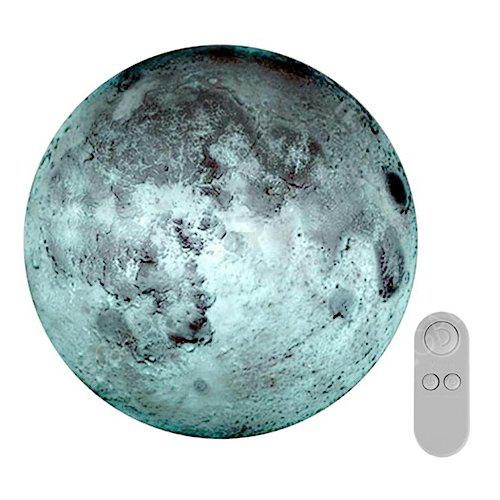 Online Creative Remote Control Moon-shape Romantic Wall Lamp