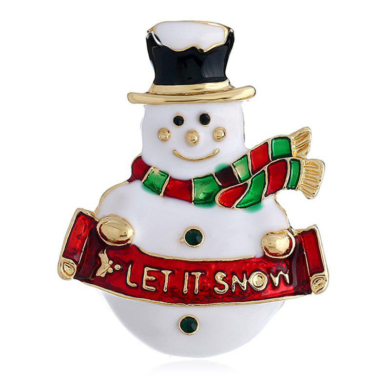 Fancy 89814D Colorful Christmas Snowman Brooch for Christmas