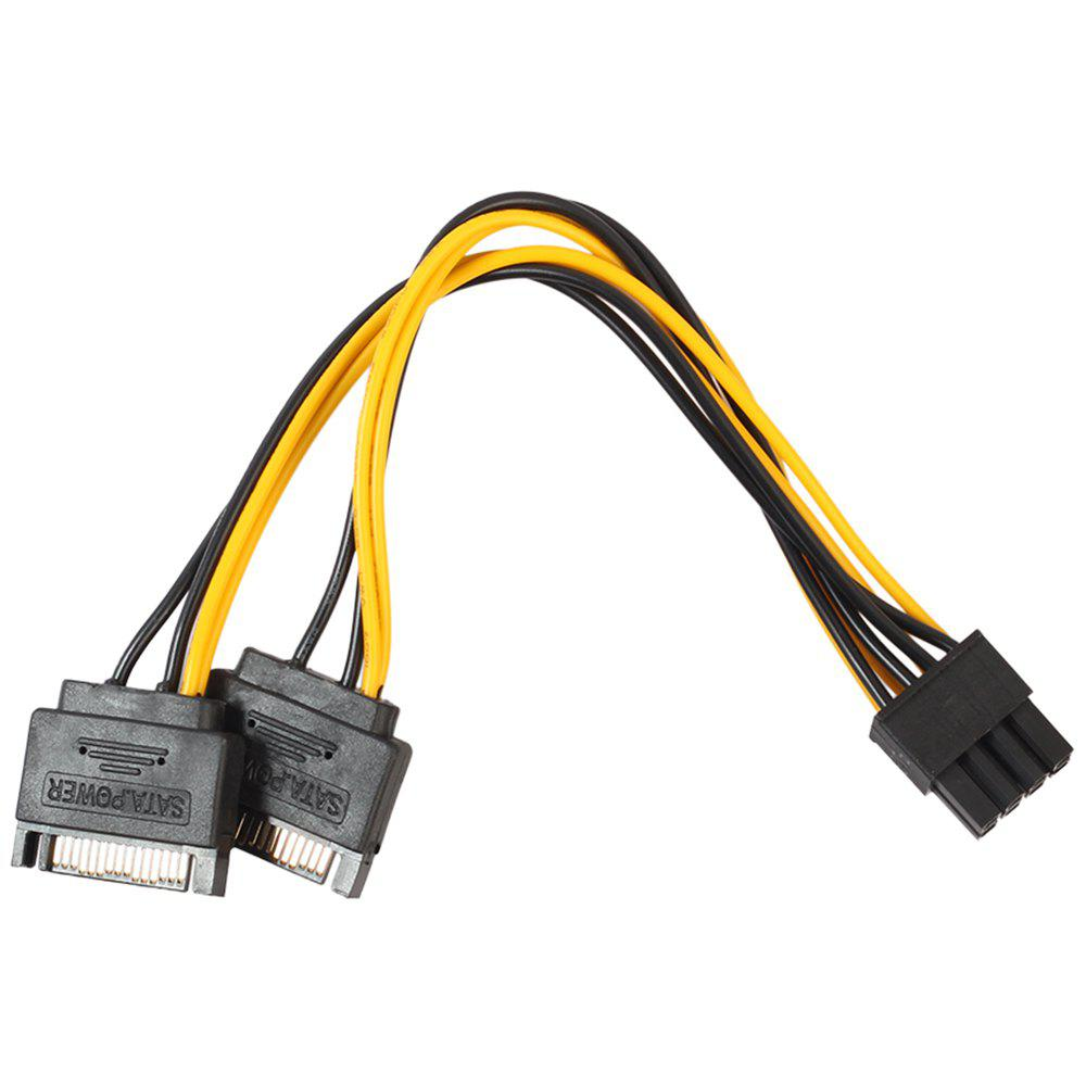 3403 8 Pin to Dual 15 Pin Graphics Card Power Supply Line 20cm