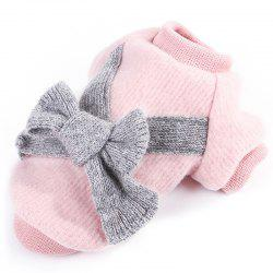 Flannel Fabric Bowknot  Dog Clothes -