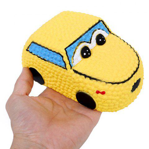 Cartoon Car Squishy Slow Rising Squeeze Toy - YELLOW