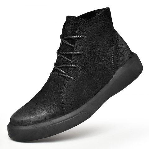 Men's Fashion High Top Leather Casual Shoes