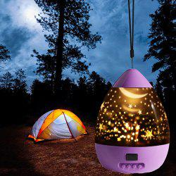 Starry Sky Fantasy Projection Lamp Intelligent Rotating LED Night Light -