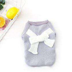 Flannel Fabric Bowknot Clothing for Dogs -