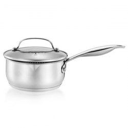 Durable Uncoated Stainless Steel Soup Pot -