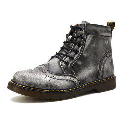 Men Comfortable Boots Stylish High-top Lace-up Durable -